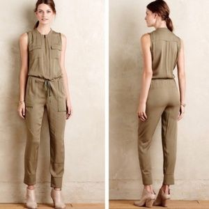 Anthropologie sleeveless military romper EUC S